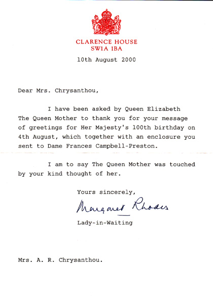 Letter_QueenMUM10Aug00