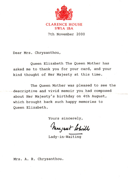 Letter_QueenMUM7Nov00